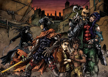 Cryweni tortenetek dupla borito / wraparound cover by BloodlustComics