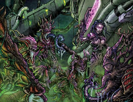 Bloodlust 03 dupla borito / wraparound cover by BloodlustComics