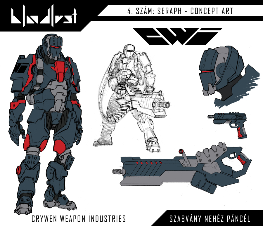 C.W.I. - Szabvany nehez pancel / Heavy infantry by BloodlustComics