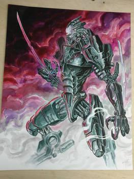 Cyborg eneny concept art for Bloodlust 4