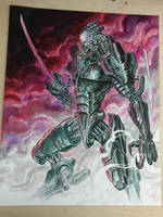 Cyborg eneny concept art for Bloodlust 4 by BloodlustComics