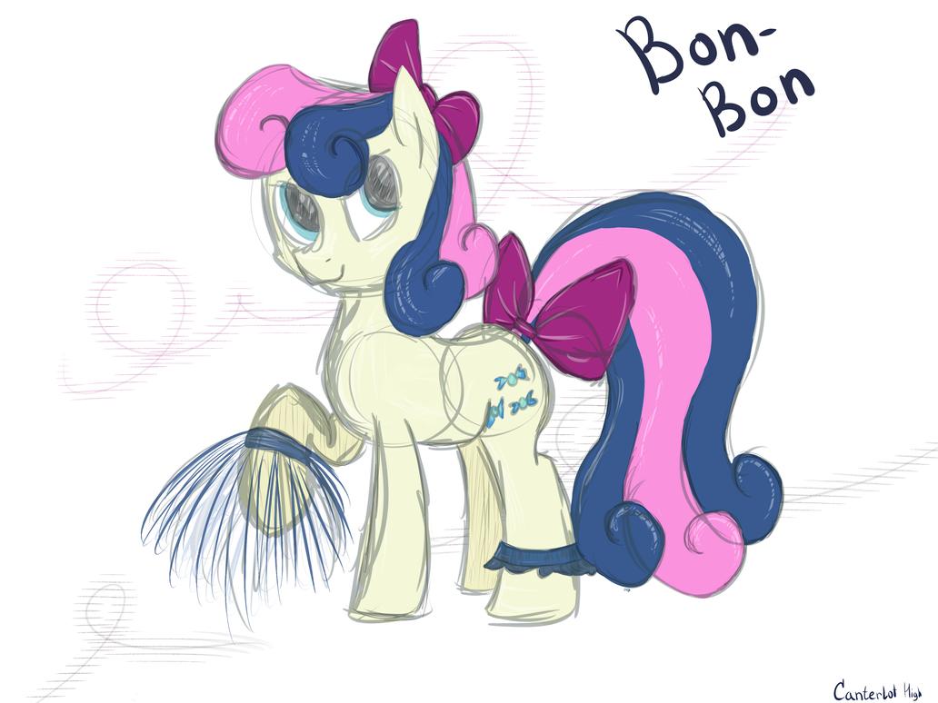 Bon-Bon Canterlot High by AD-Laimi