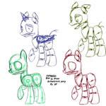 TUTORIAL : How to Draw Animatronic Ponies