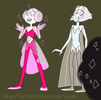 Pearl| Steven Universe | White | Pink by AD-Laimi