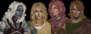 Female companions BG by b1ackImg