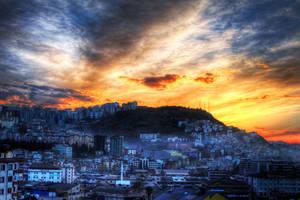 Sunset in Trabzon, Turkey