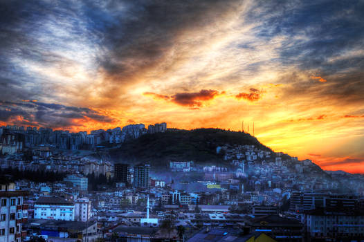 Sunset in Trabzon, Turkey