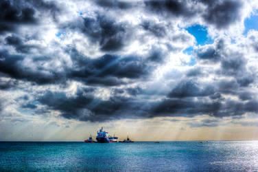 Ships on Marmara Sea, Istambul, Turkey