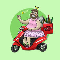 The Booze Fairy by SeanDrawn