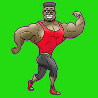 Muscle Man 1 by SeanDrawn