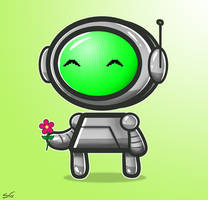 The Little Robot's Flower by SeanDrawn