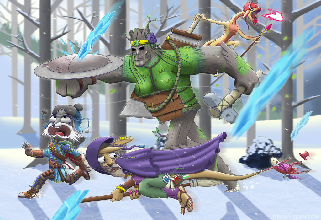 Run! Frost Giants! by SeanDrawn