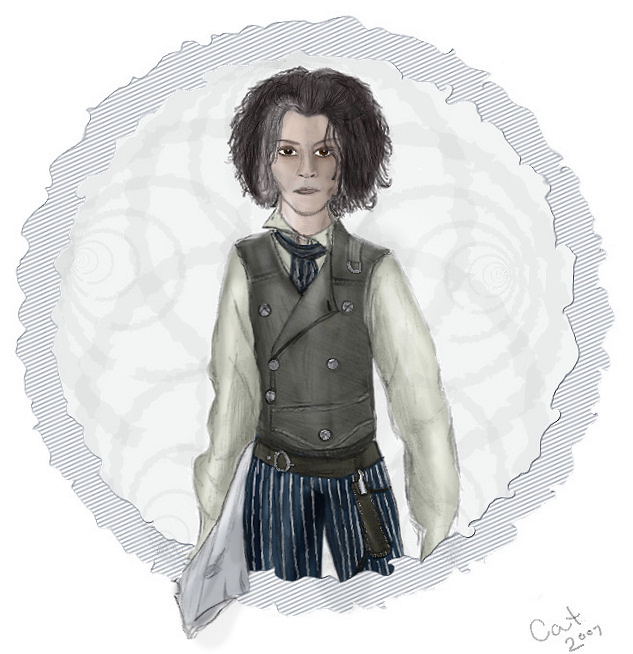 Johnny Depp as Sweeney Todd by thecatgirlforever