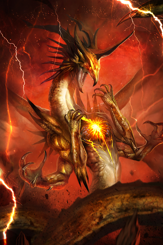 Medieval Art Hell Thunder Dragon by bool...