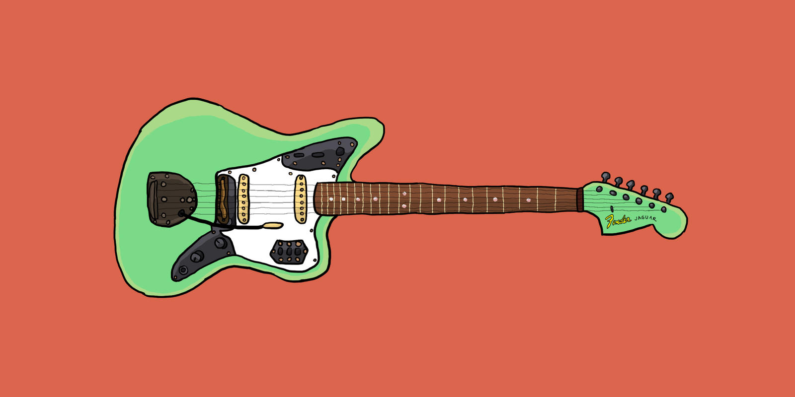 fender jaguar wallpaper-#18