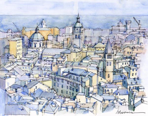 Panoramica di Genova (Italy) by lucamassone