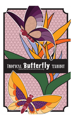 Butterfly Exhibit Mockup Poster