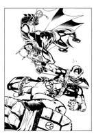 Batman v Deadpool by terrypallot