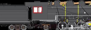 Baldwin 12-28 1-4 E class 2-8-2