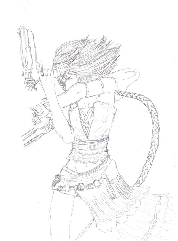 Yuna Without Colour By Manlikeyeti On Deviantart
