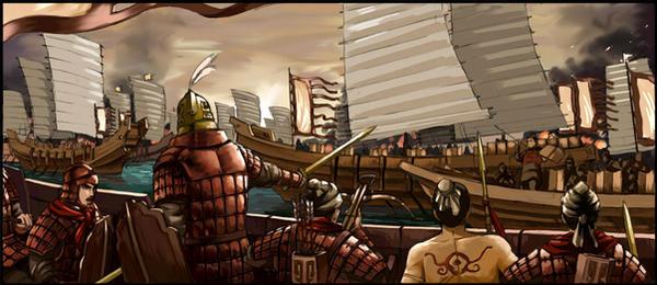 Riverine Battle by Maqiangk
