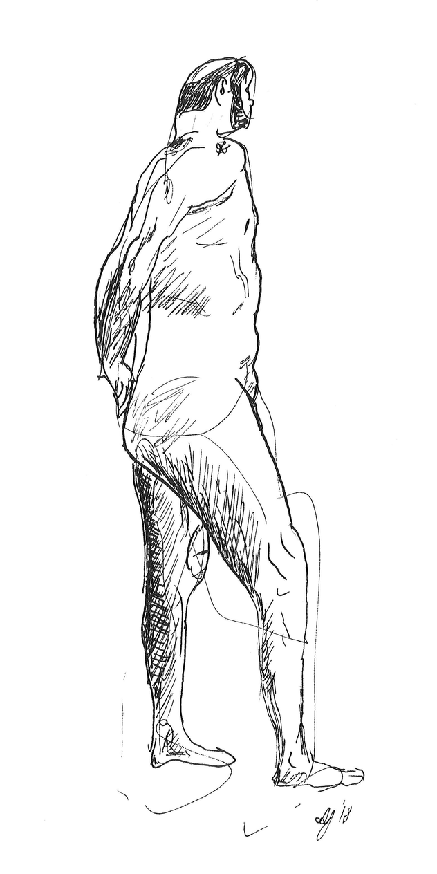 How To Draw A Person Standing Sideways