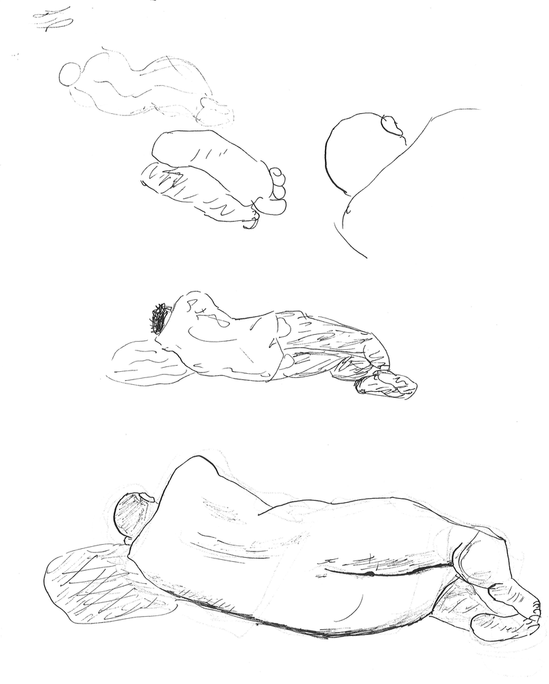 study of man laying down by sukaiburu8 on deviantart