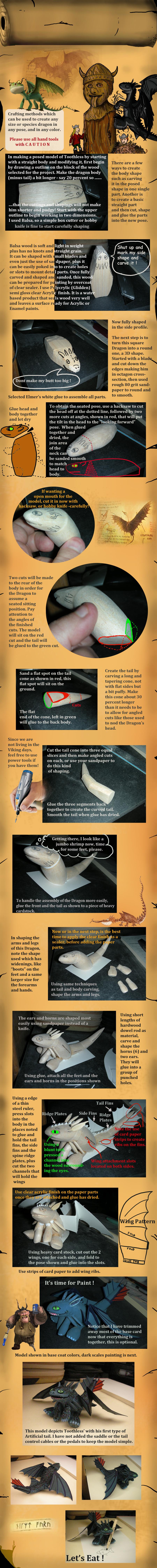 Tutorial on making wooden dragon models by Rekalnus