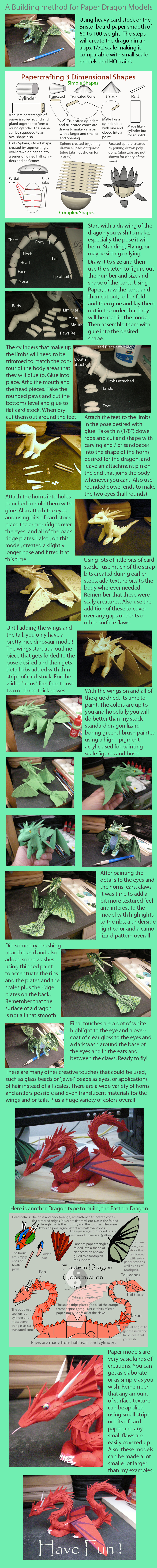 Tutorial on making Paper dragon models by Rekalnus