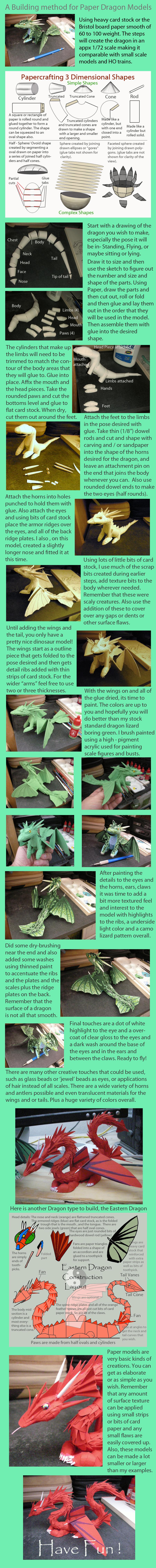 Tutorial on making Paper dragon models by Rekalnus