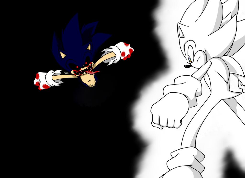 Super Sonic Vs Sonic Exe By Scythewatch Deviantart – Fondos de Pantalla