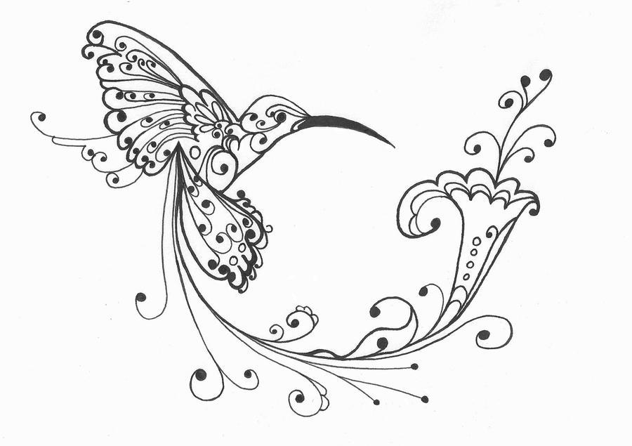 Line Drawing Hummingbird : Hummingbird by t xicsunshyne on deviantart