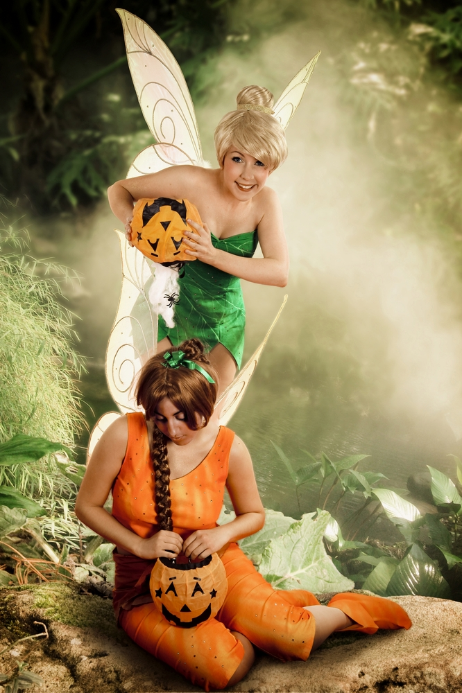 Tinkerbell Fawn with pumpkins by clefchan