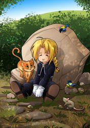 JE: Edward elric, SD by clefchan