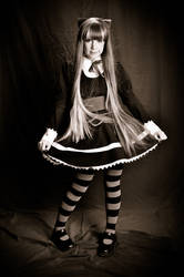 Stocking Black and White