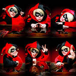 Harley Quinn faces