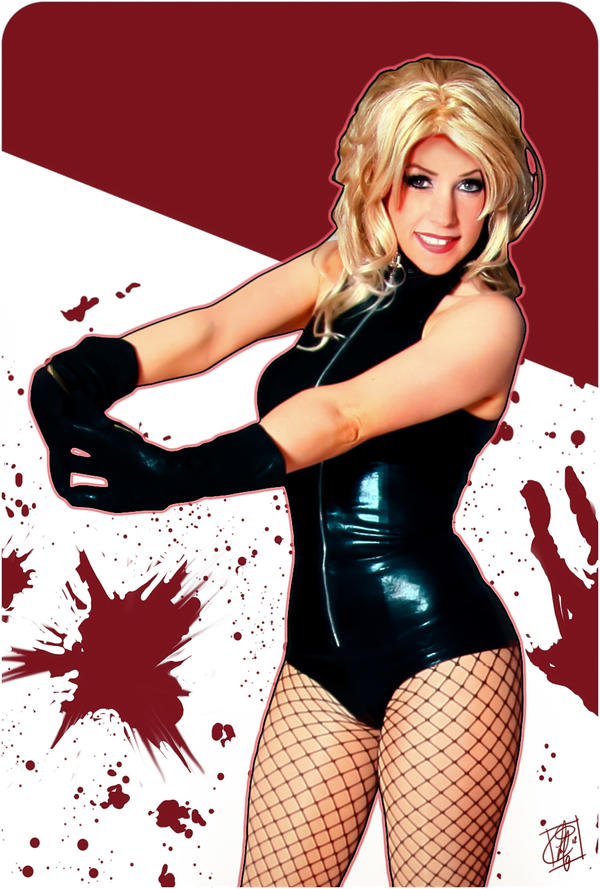 Black Canary Cosplay adam hughes style by clefchan
