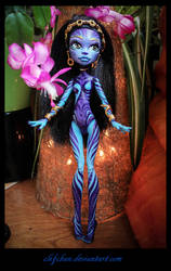 monster high ooak repaint : Alma2