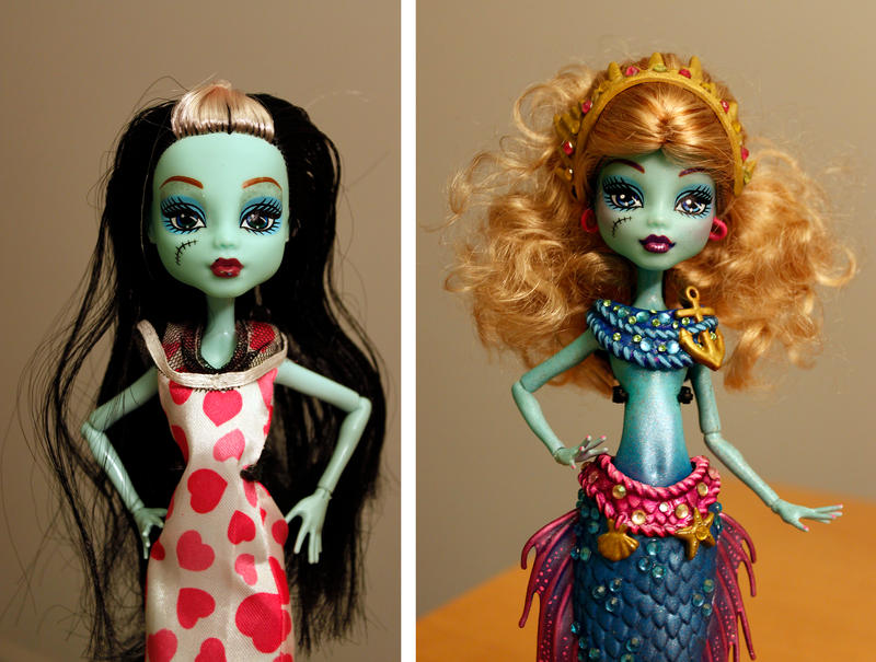 Monster High customization before/after by clefchan
