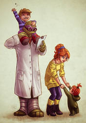 hamato Oneil family by clefchan