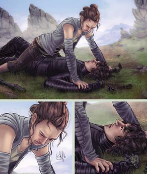 Rey vs Kylo Ren he lost again
