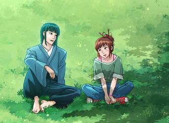 Grown up Chihiro and Haku
