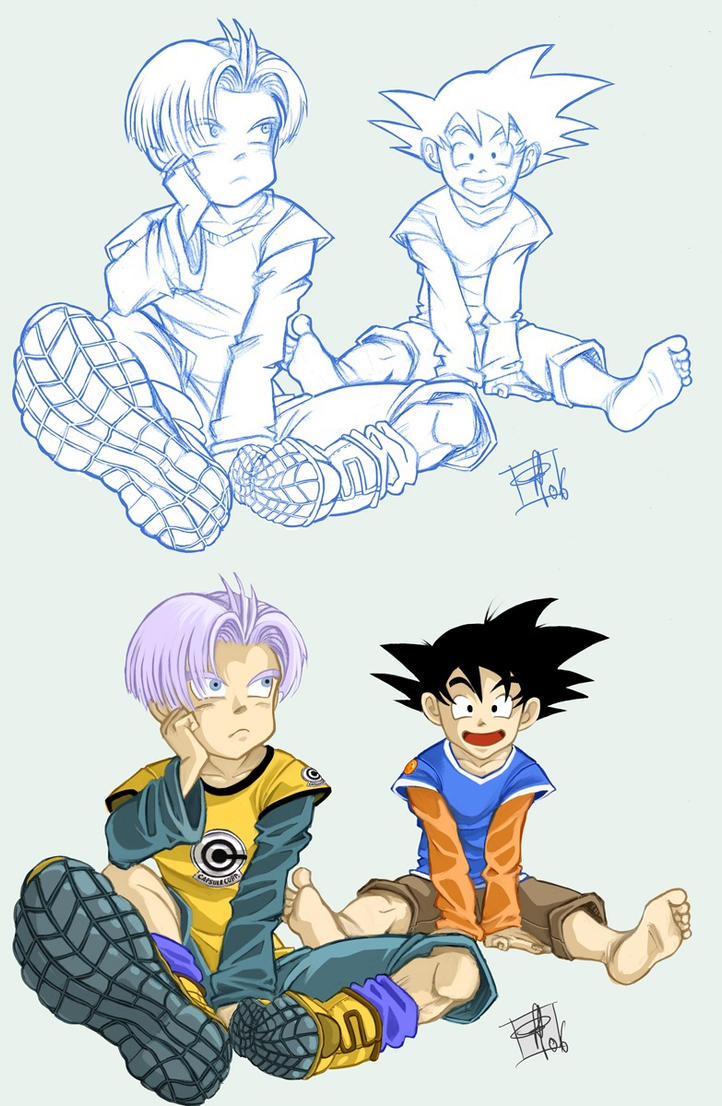 Future Goten And Trunks Goten and trunks color by