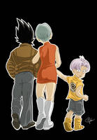 Vegeta Bulma Trunks: a family by clefchan