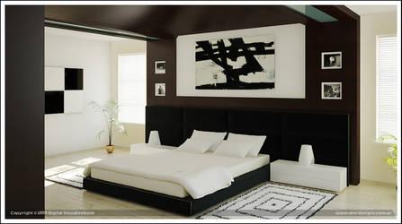 Dreamed Bedroom third render by diegoreales