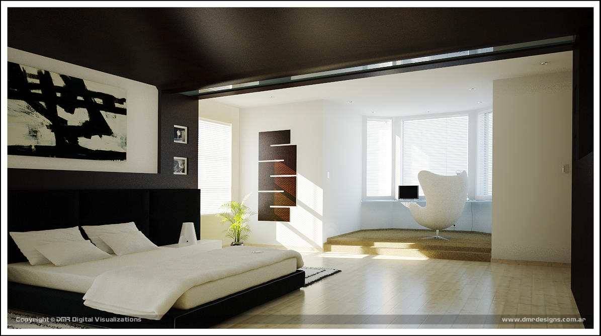 Dreamed Bedroom fourth render by diegoreales
