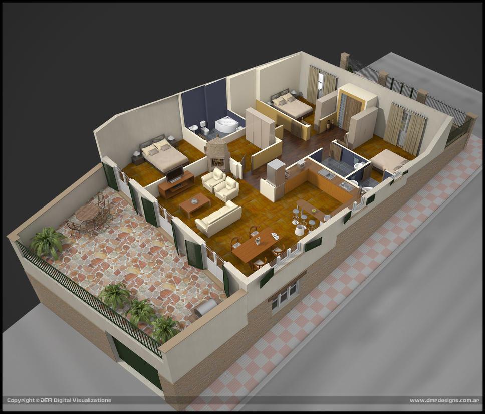 3d Floorplan 2 by diegoreales