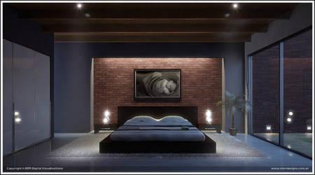 Night Bedroom by diegoreales