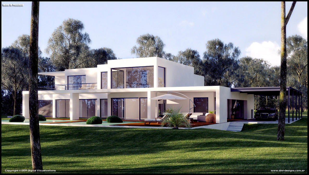 Modern house wip by diegoreales on deviantart for Modern house 40