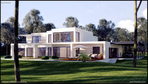 Modern House WIP by diegoreales